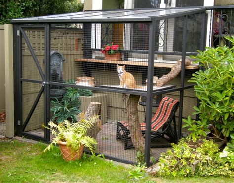 cat patio diy projects build your own cat enclosure melsteel