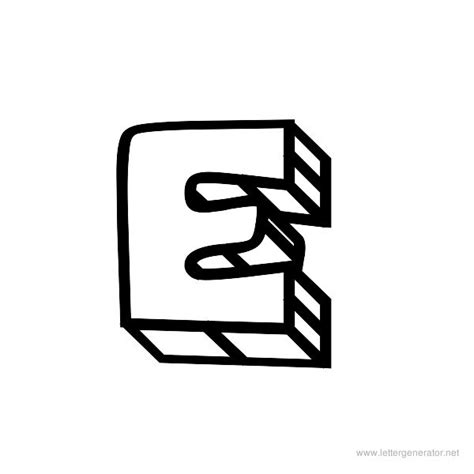 e block letter block alphabet gallery free printable alphabets letter