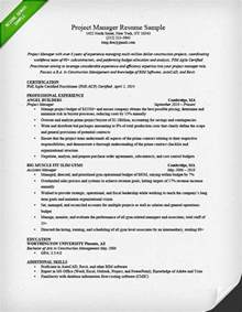 Sample It Project Manager Resume Project Manager Resume Sample Amp Writing Guide Rg