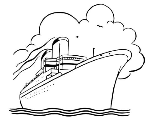 how to draw cruise ship coloring pages netart