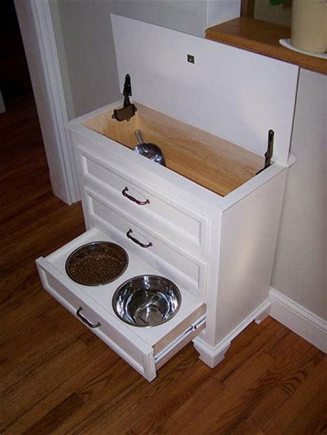 Feeding Station Dresser by Turn A Dresser Into A Pet Feeding And Care Station Easy