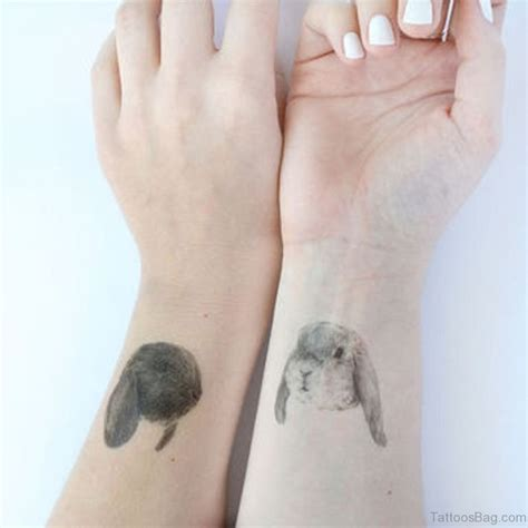 small bunny tattoo 24 small rabbit tattoos on wrist