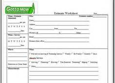 Lawn Care Quote Template by Free Lawn Care Contract Forms Lawn Maintenance Contract