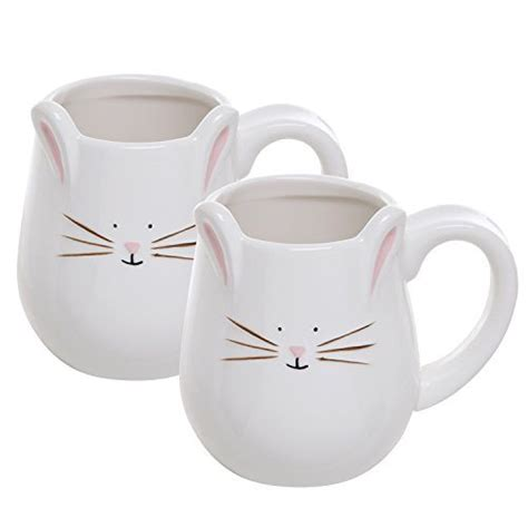 clixicle white ceramic designer coffee mug pack of 2 buy online at best price in india snapdeal set of 2 white ceramic 3d bunny face design decorative