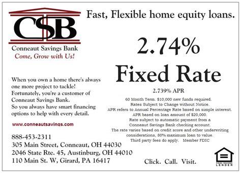 home equity loans conneaut savings