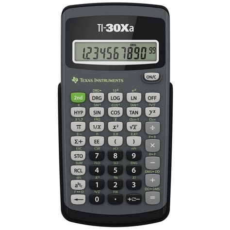 Kalkulator Casio Seri Financial ti30xa basic scientific calculator with 10 digit display