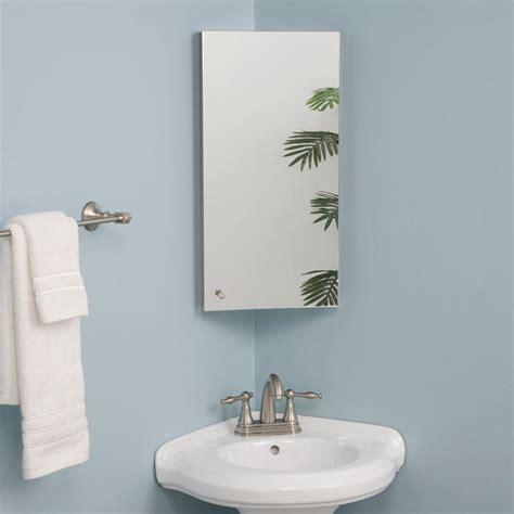 kugler stainless steel corner medicine cabinet medicine bathroom mirrored cabinet signature hardware