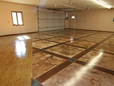 floor designs garage floor design the concrete network