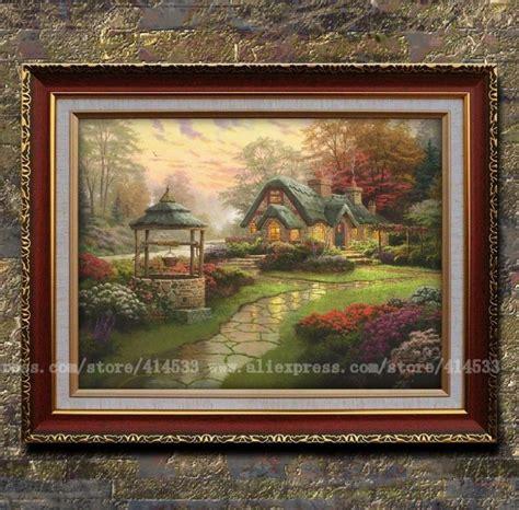 home interiors kinkade prints kinkade prints of painting make a wish cottage landscape painting modern wall