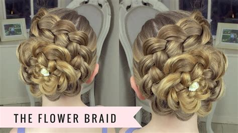 flower design in hair the flower braid by sweethearts hair youtube