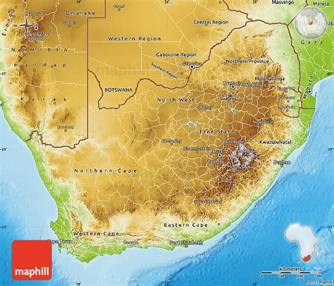 south africa physical map physical map of south africa