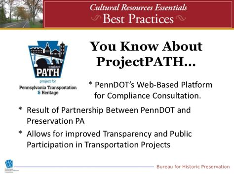shpo section 106 penndot fhwa the shpo the path to section 106 best