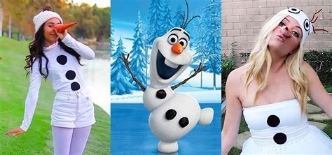an olaf dress up costume to say quot awwww quot over ruffles and diy olaf costumes low cost halloween looks for frozen s