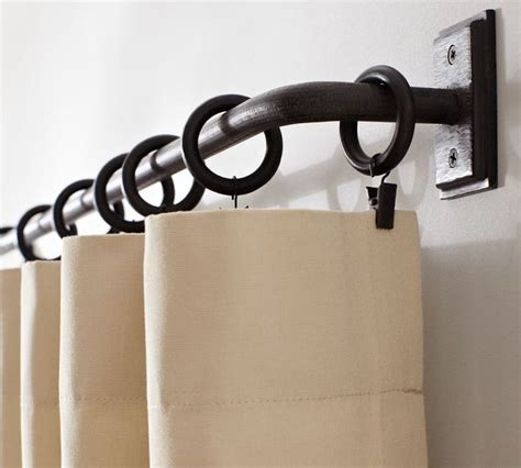 PB Essentials Drape Rod   Traditional   Curtain Rods   by
