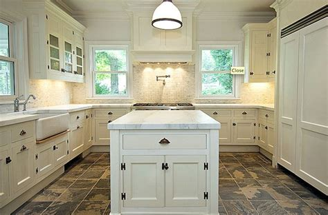 kitchen flooring ideas with white cabinets cream color kitchen cabinets and slate floor and company