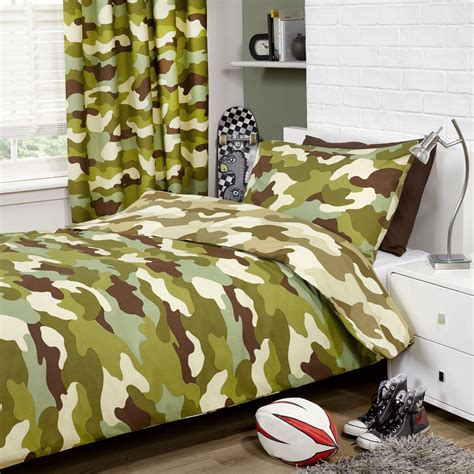camouflage curtains and bedding army camouflage single double duvets curtains in two