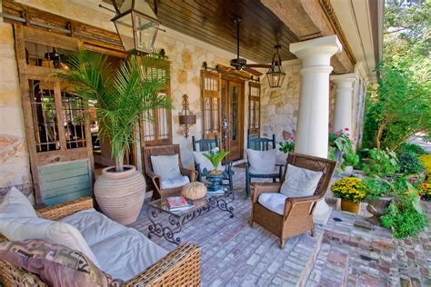 brick patio designs porch traditional with beige outdoor