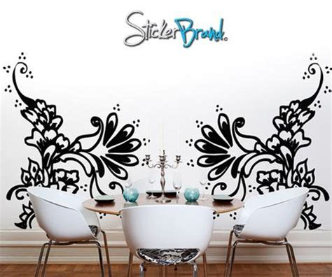 henna design wall decals vinyl wall decal henna tattoo swirls ac117 stickerbrand