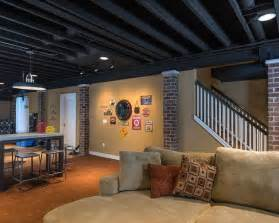 25 best ideas about basement ceiling painted on unfinished basement ceiling