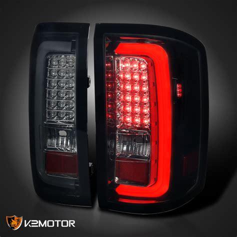 2014 gmc sierra tail lights 2014 2017 gmc sierra 1500 2500 3500 smoke lens led bar