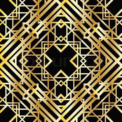 Modern Home Design Thailand by Art Deco Geometric Pattern 1920 S Style Stock Vector