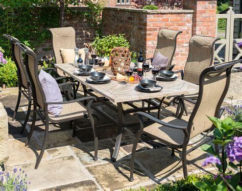 palermo outdoor furniture palermo rectangular 6 seater garden furniture set by hartman 163 800 garden4less uk shop