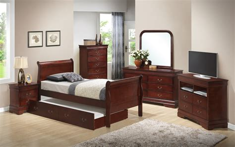 youth bedroom set g3100 youth sleigh bedroom set with trundle