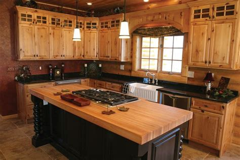 hickory wood kitchen cabinets natural knotty alder wood kitchen cabinets custom