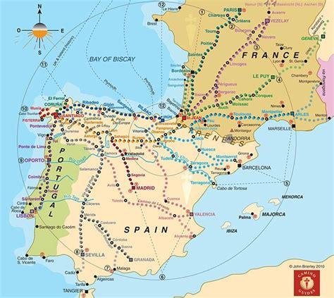 camino de santiago mappa asociaci 243 n de amigos camino de santiago en alicante