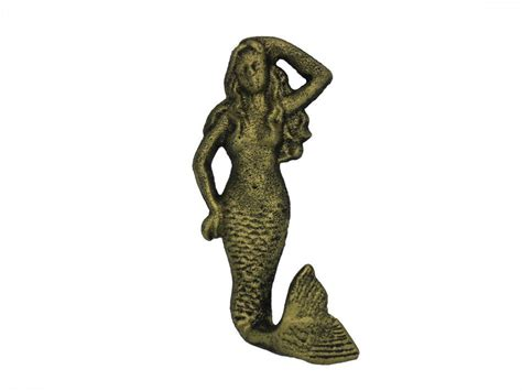 Cast Iron Decor by Wholesale Rustic Gold Cast Iron Mermaid Hook 6 Quot Model Ship