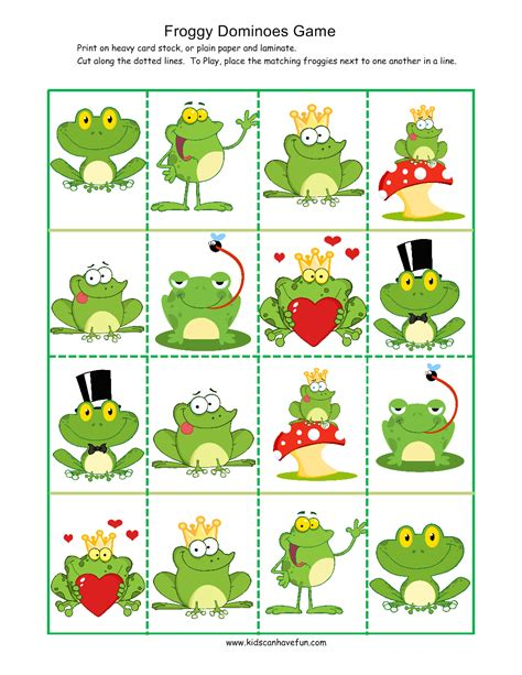 printable preschool games free froggy dominoes game games for kids pinterest gaming