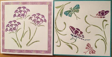 card stencils ashtead card and craft club stencil techniques