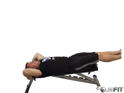 leg raise on bench flat bench lying leg raise exercise database jefit