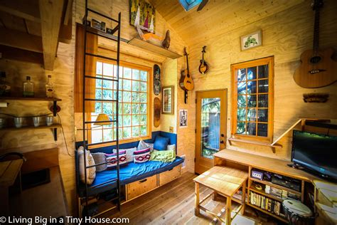 living room treehouse in the trees with the treehouse masters living big in a tiny house