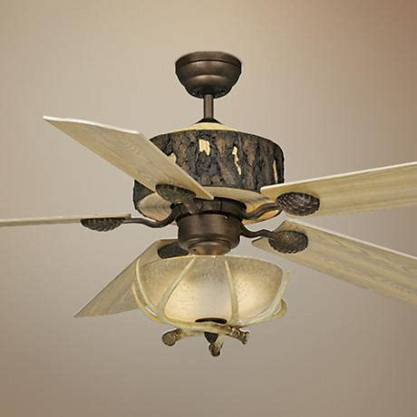 ceiling fan with bowl light 52 quot vaxcel log cabin ceiling fan with antler bowl light