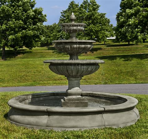 condotti fountain large round bowl recirculating spout