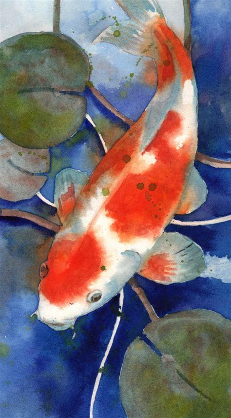 koi fish watercolor paintings koi art koi painting watercolor koi fish art koi