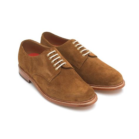 Suede Shoes by Grenson Shoes Finton Suede Derby Shoe