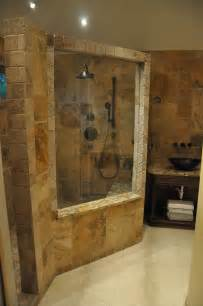 Bathroom Showers Rock Wall Beautiful Bathroom Designs Glass