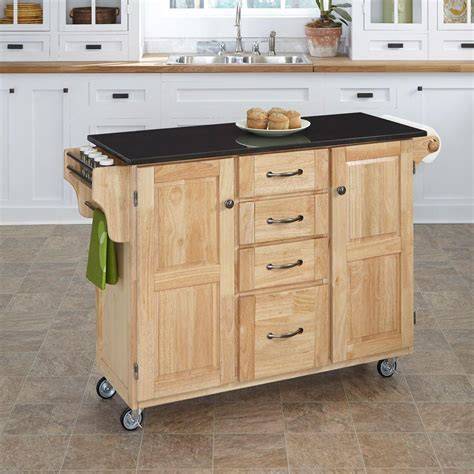 black kitchen island cart wood rolling kitchen cart with black granite top island locking wheels ebay
