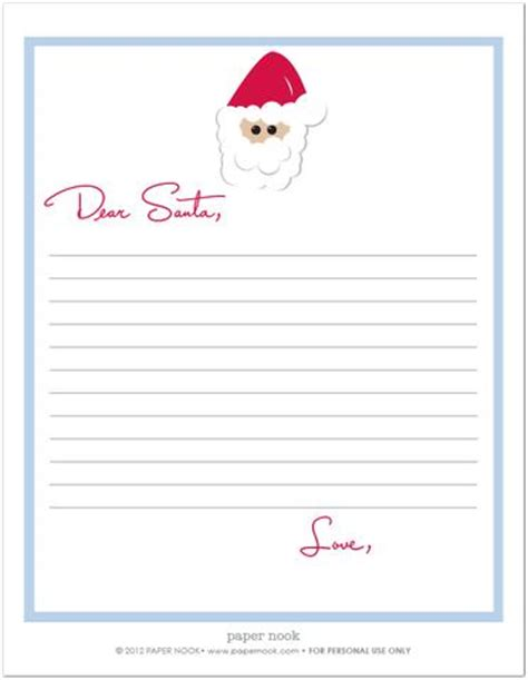 printable christmas list paper printable letter to santa santa letter christmas list