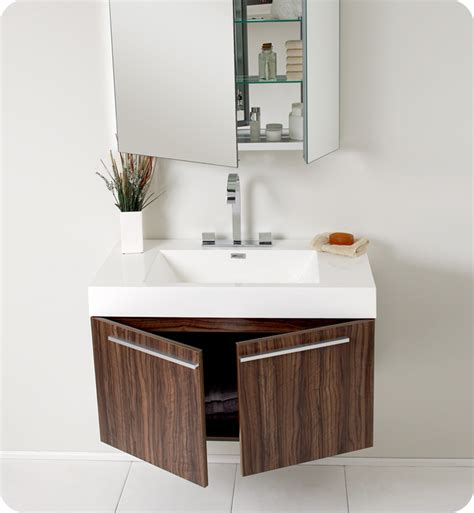 Modern Walnut Bathroom Vanity Fresca Vista Walnut Modern Bathroom Vanity