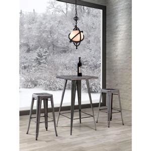 zuo olympia gunmetal pub bar table 601189 the home depot