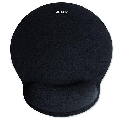 Mouse Pad comfortfoam memory foam mouse pad with wrist rest black
