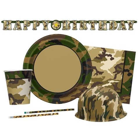 Camouflage Decorations by Camo Tableware Decorations Birthday