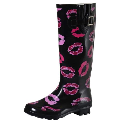 pink patterned wellies ladies glossy funky patterned festival wellies wellington