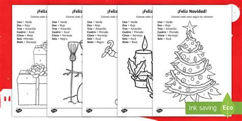 merry christmas colour  number worksheet worksheet