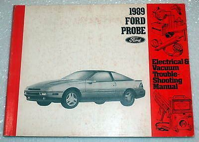 where to buy car manuals 1989 ford probe interior lighting 1989 ford probe electrical vacuum troubleshooting shop manual gl lx gt evtm ebay