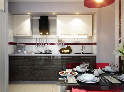 kitchen and dining room design ideas red white black modern kitchen dining decor style
