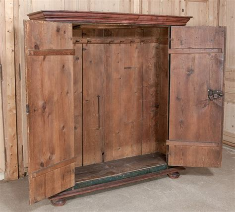 rustic armoir 19th century rustic swiss painted armoire at 1stdibs